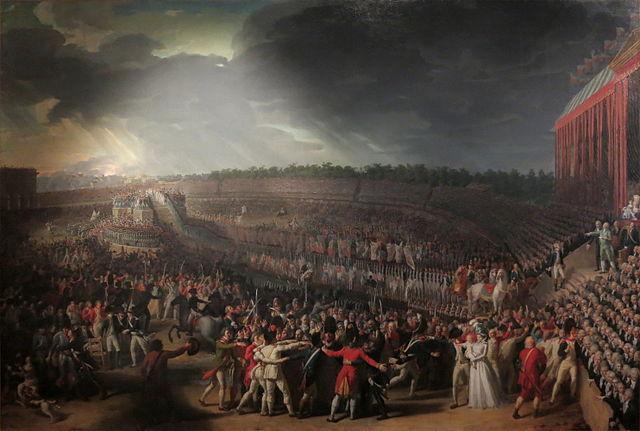 La fête de la Fédération, tableau de Charles Thévenin, musée Carnavalet