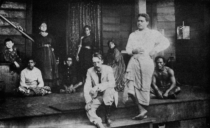 Robert-Louis-Stevenson-in-Samoa