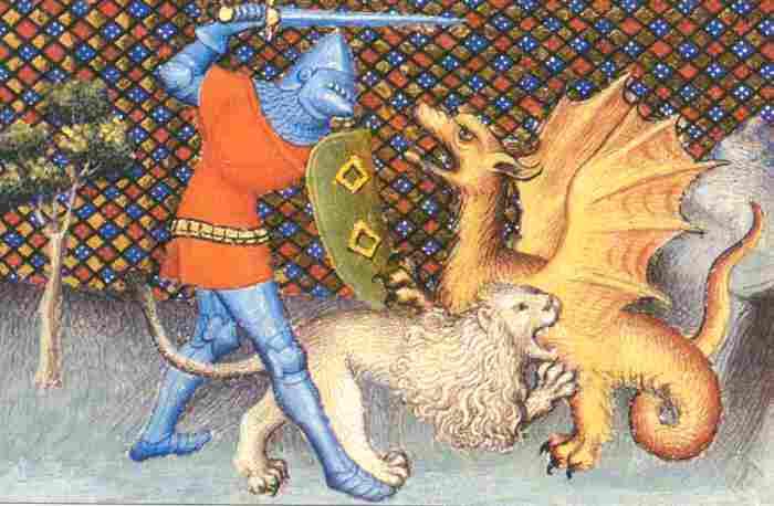 Le l vrier roland et l ours ganelon le ciel de leyenda for Dans jeannot et colin l auteur combat
