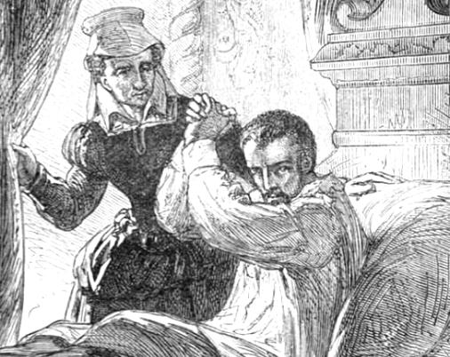 Charles IX mourant dans les bras de sa nourrice