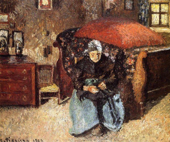 Vieille femme - Camille Pissaro