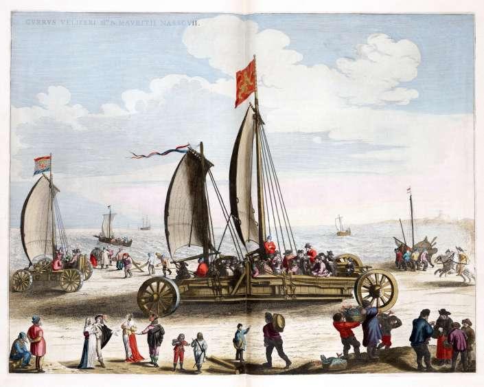 Simon_Stevins_zeilwagen_voor_Prins_Maurits_1649