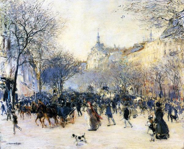 Rafaëlli. Carrefour Drouot, 1902