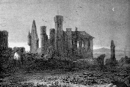 Ruines du château de Vauvert.