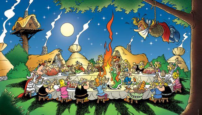 LES MACRONADES DE JUPITER  - Page 39 Asterix-banquet-uderzo-goscinny